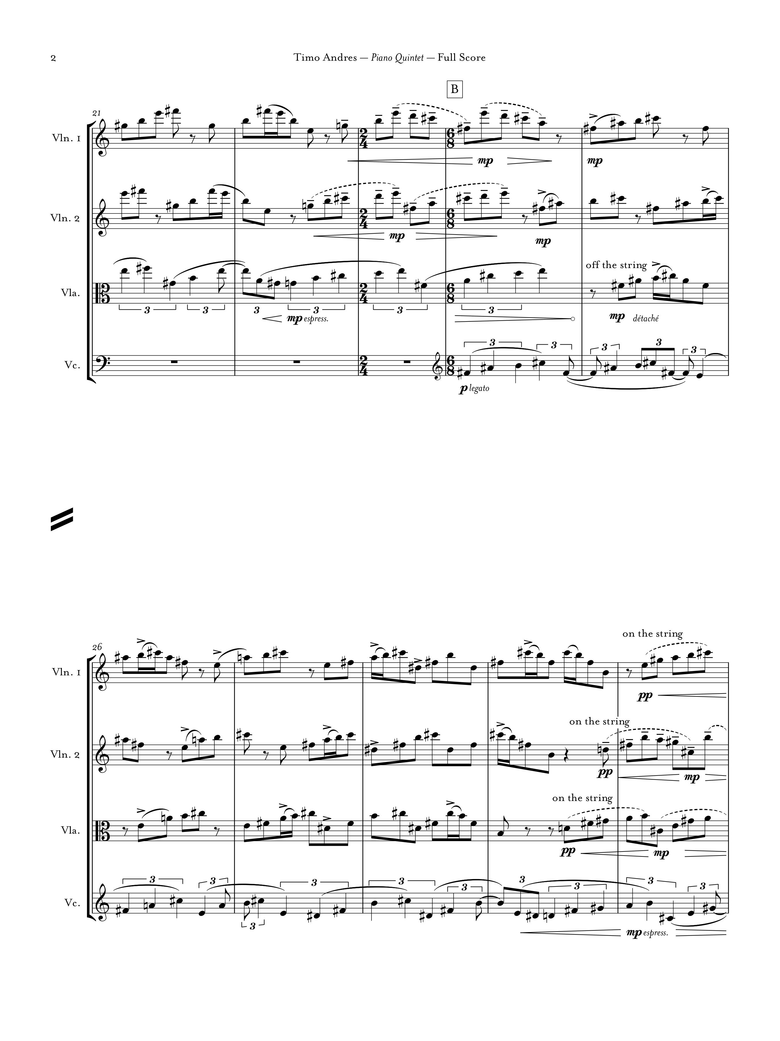 Piano Quintet, p. 2