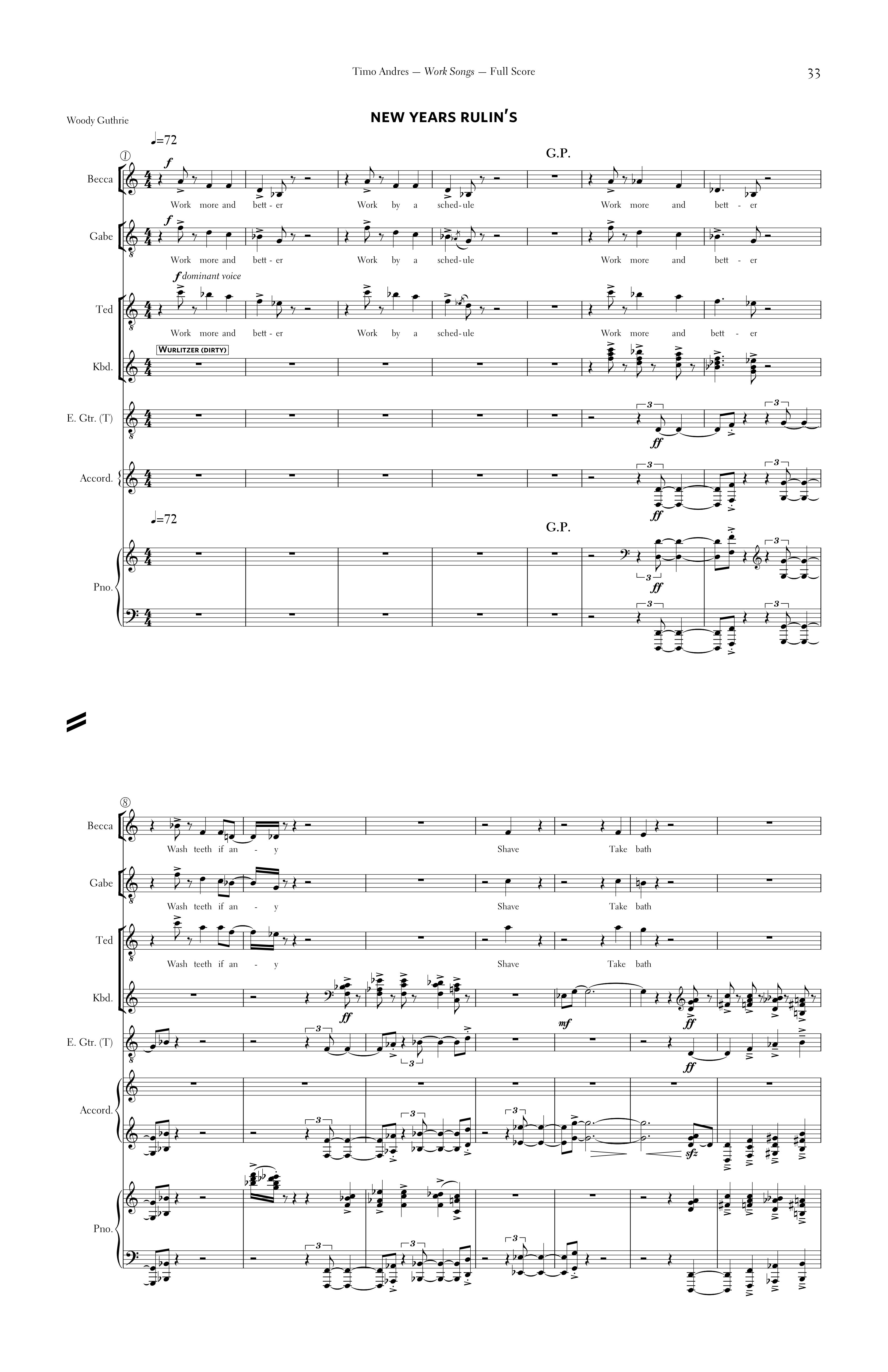 Work Songs, p. 3