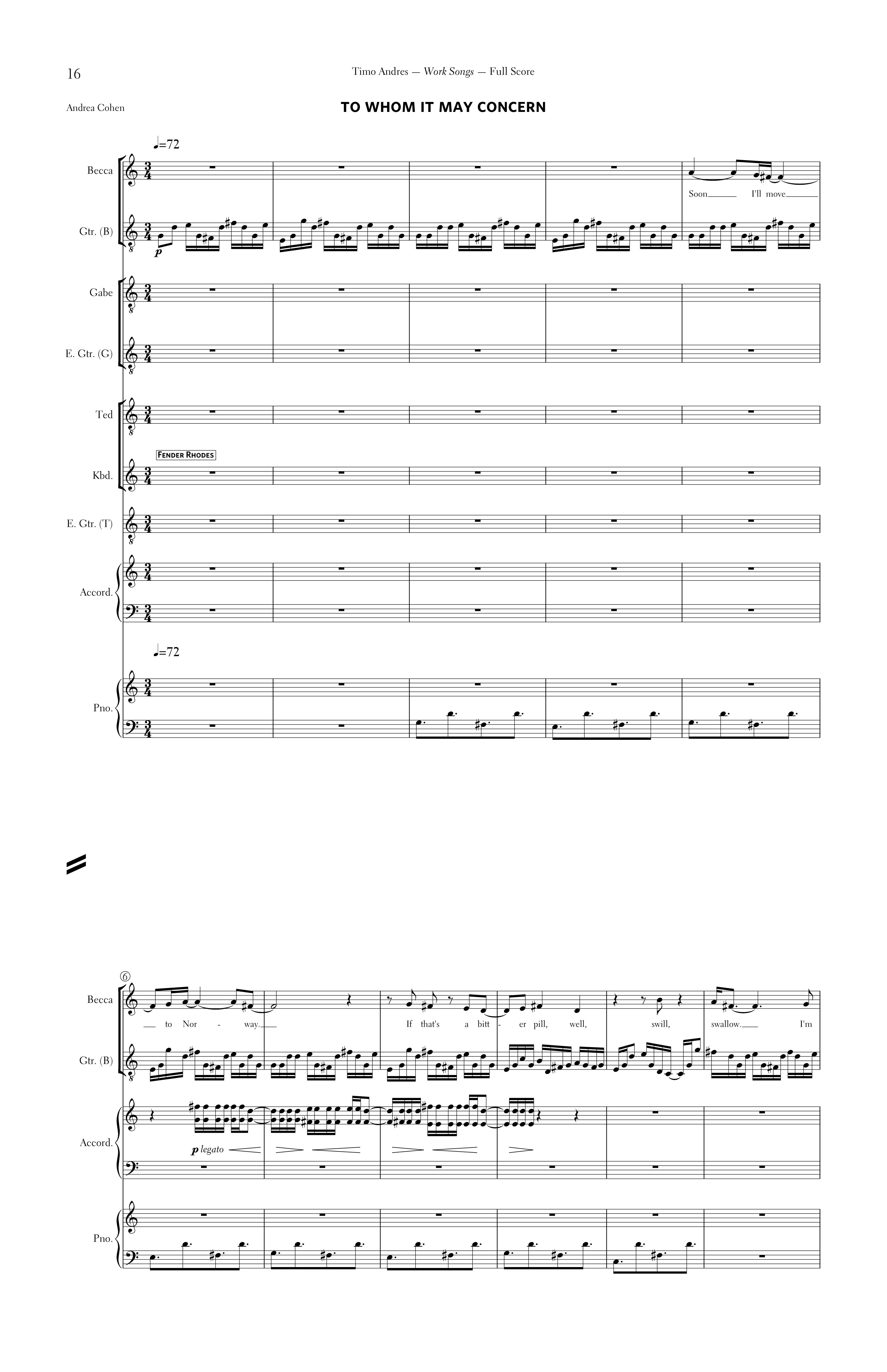 Work Songs, p. 4